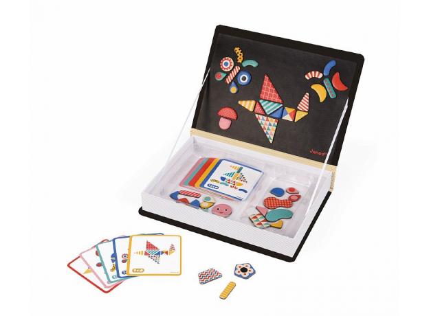 Книга-игра Janod «Мозаика в геометрии» магнитная, фото
