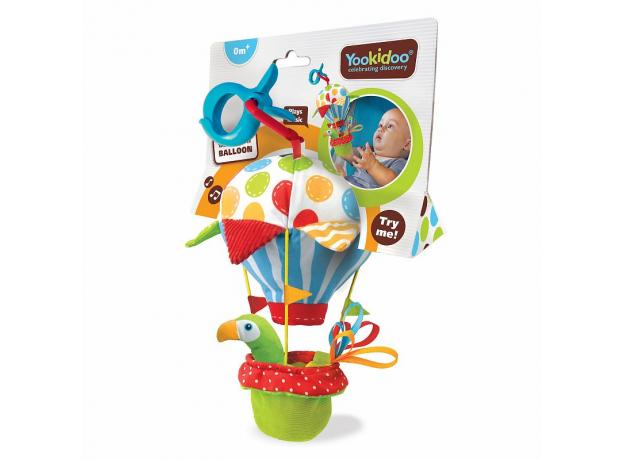Игровой набор Yookidoo «Попугай на воздушном шаре» погремушка и прорезыватель, фото , изображение 5