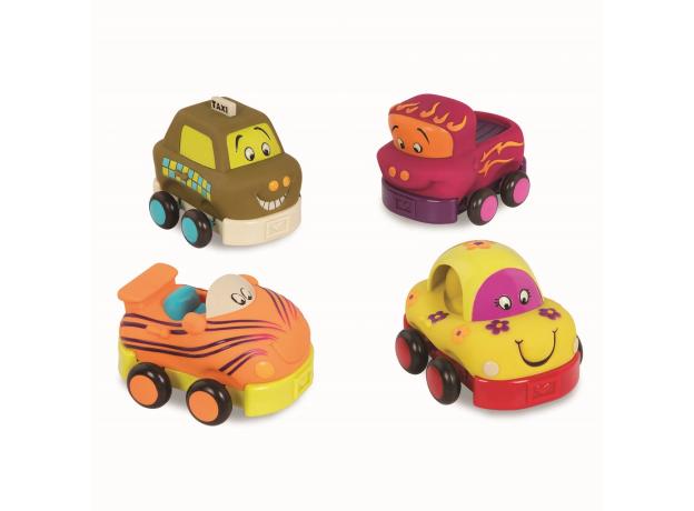 68621-4 Набор из 4 игрушечных машинок, фото