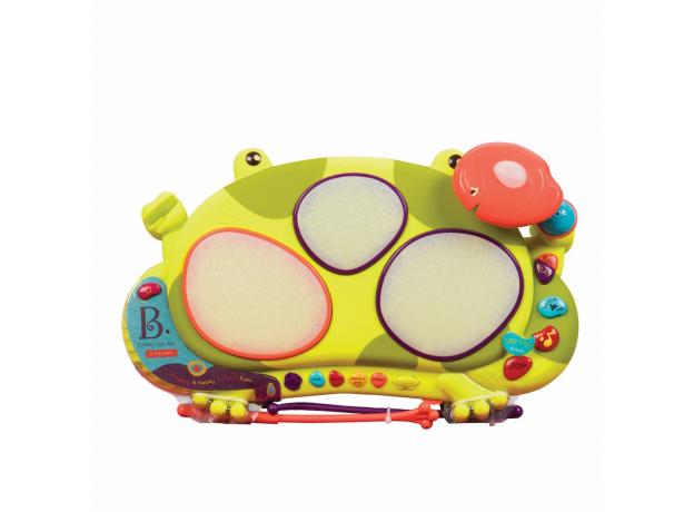 Музыкальная игрушка мульти-барабан B.Toys (Battat) «Лягушка», фото , изображение 4