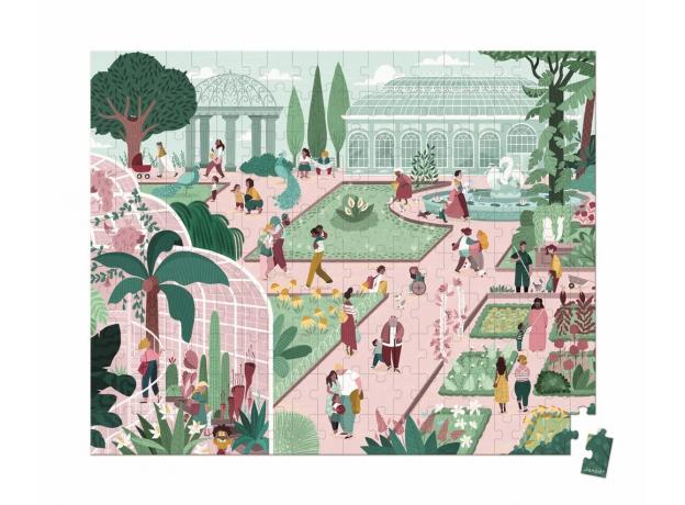 Пазл в прямоугольном чемоданчике Janod «Ботанический Сад»; 200 элементов, фото