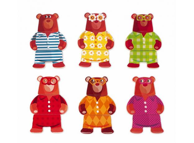 Пазл деревянный Janod «Медведь в пижамах», фото , изображение 2