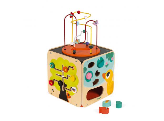 Развивающий куб Janod с комплектом игр: 8 видов активностей, фото , изображение 2