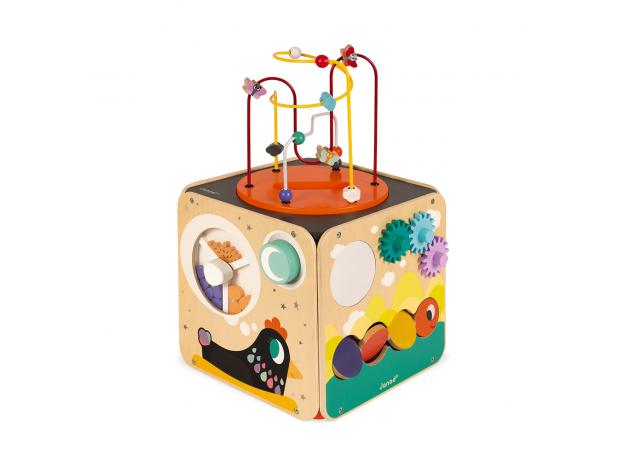 Развивающий куб Janod с комплектом игр: 8 видов активностей, фото , изображение 3