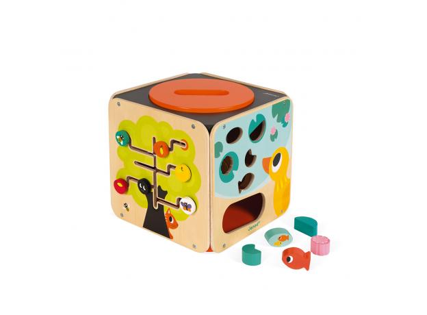 Развивающий куб Janod с комплектом игр: 8 видов активностей, фото , изображение 5