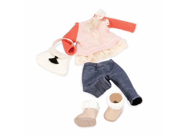 Одежда для куклы Lori с ажурной кофтой, фото