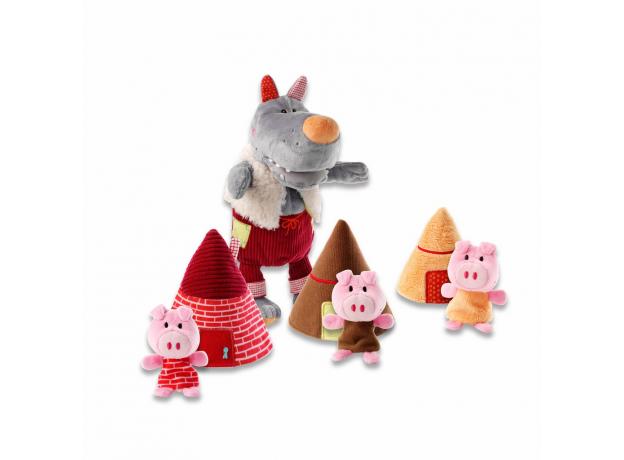 Пальчиковые игрушки Lilliputiens: Волк и три поросенка, фото