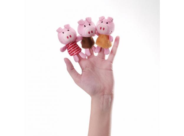 Пальчиковые игрушки Lilliputiens: Волк и три поросенка, фото , изображение 3