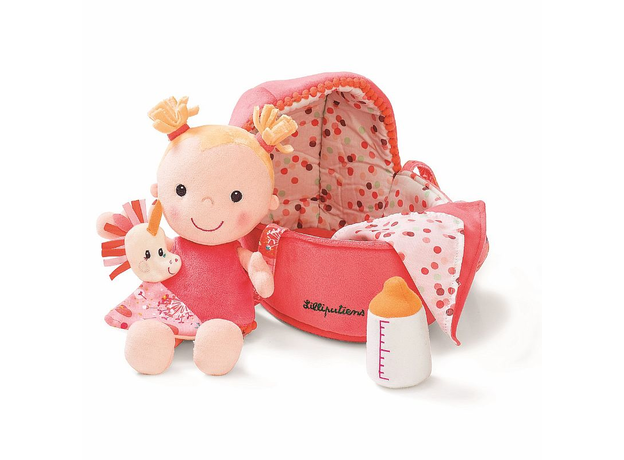 Мягкая куколка в переноске с игрушкой Lilliputiens, фото , изображение 6