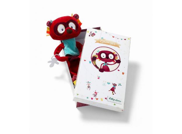 Игрушка-обнимашка Lilliputiens «Лемур Джордж»; подарочная коробка, фото , изображение 4
