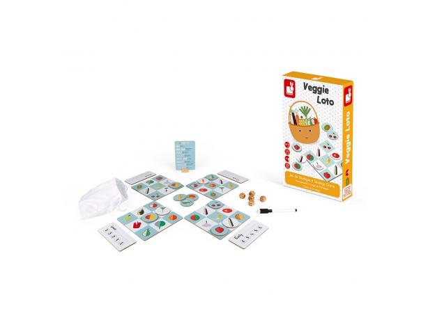 Игра настольная Janod лото «Фрукты-овощи», фото , изображение 5