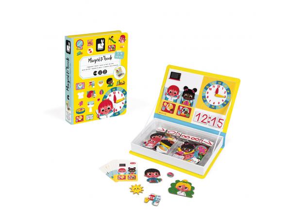 Книга-игра Janod «Учим время» магнитная, фото , изображение 2