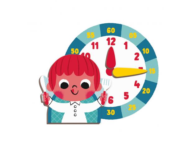 Книга-игра Janod «Учим время» магнитная, фото , изображение 4