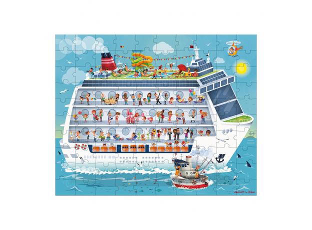 Набор пазлов Janod «Морской круиз» большой в круглом чемодане: 2 пазла, фото , изображение 3