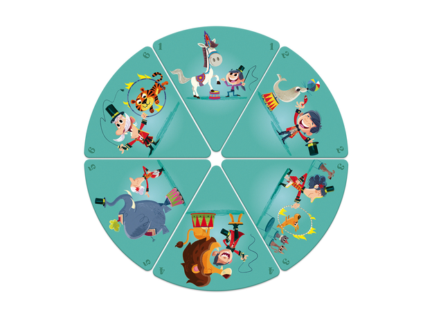 Настольная игра Janod «Счастливые семейки: цирк», фото , изображение 4