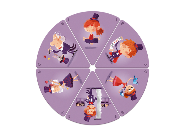 Настольная игра Janod «Счастливые семейки: цирк», фото , изображение 7