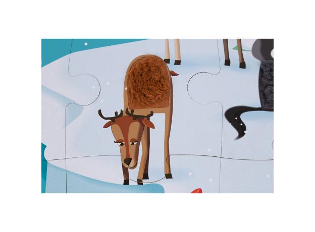 Пазл с разными текстурами Janod «Жизнь на Севере», 20 деталей, фото , изображение 8