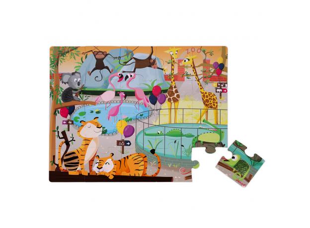 Пазл с разными текстурами Janod «День в зоопарке», 20 деталей, фото , изображение 2