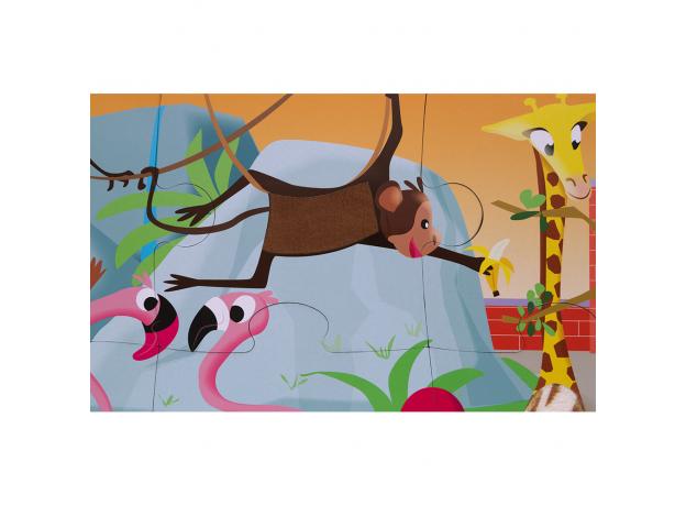 Пазл с разными текстурами Janod «День в зоопарке», 20 деталей, фото , изображение 11