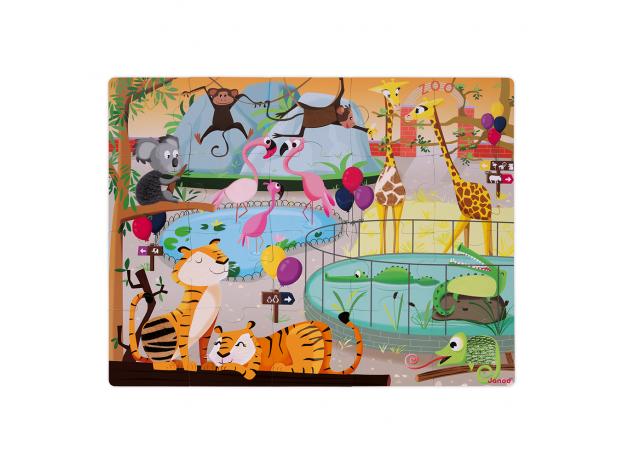 Пазл с разными текстурами Janod «День в зоопарке», 20 деталей, фото , изображение 4