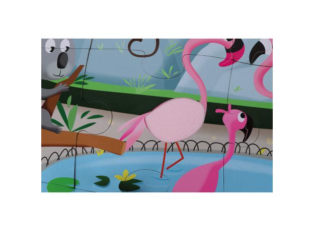 Пазл с разными текстурами Janod «День в зоопарке», 20 деталей, фото , изображение 5