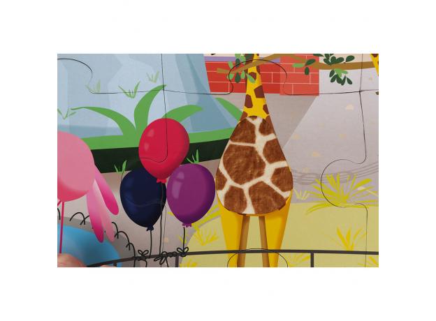 Пазл с разными текстурами Janod «День в зоопарке», 20 деталей, фото , изображение 6