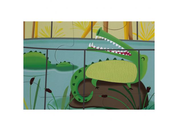 Пазл с разными текстурами Janod «День в зоопарке», 20 деталей, фото , изображение 7