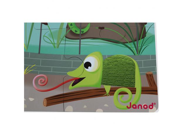 Пазл с разными текстурами Janod «День в зоопарке», 20 деталей, фото , изображение 8