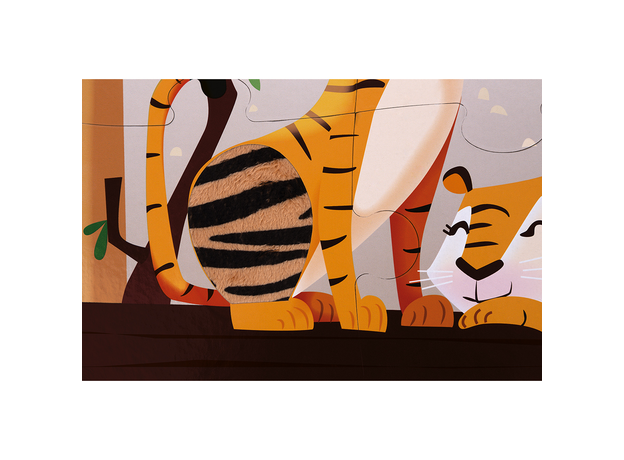 Пазл с разными текстурами Janod «День в зоопарке», 20 деталей, фото , изображение 9