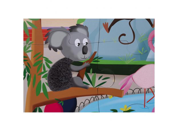 Пазл с разными текстурами Janod «День в зоопарке», 20 деталей, фото , изображение 10