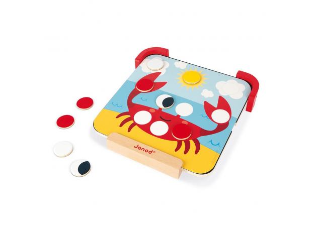 Сортер-игра Janod с магнитными элементами; серия «Я учу цвета», фото , изображение 8