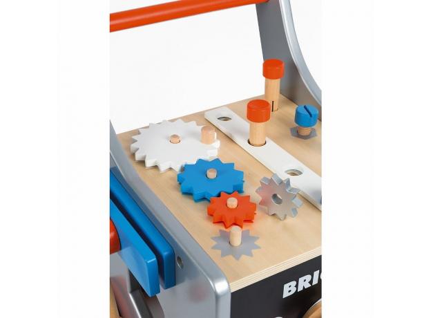 Тележка-каталка Janod «Brico'Kids» с набором магнитных инструментов: 25 аксессуаров, фото , изображение 3