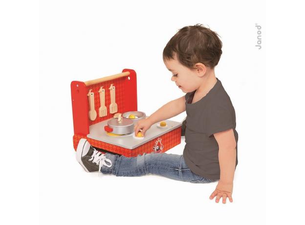 Переносная кухня-чемоданчик Janod «Курочка» с аксессуарами, фото , изображение 5