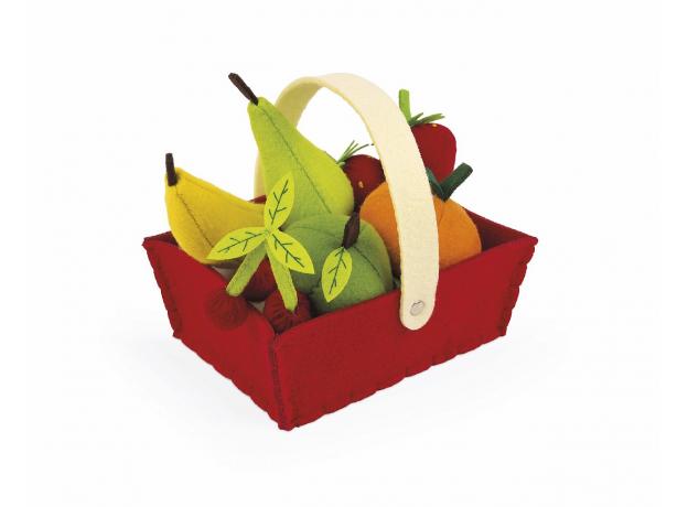 Набор фруктов Janod в корзинке: 8 предметов, фото , изображение 3
