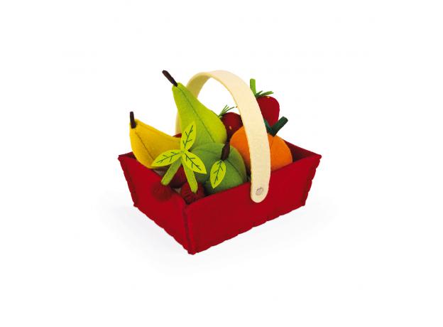 Набор фруктов Janod в корзинке: 8 предметов, фото , изображение 4