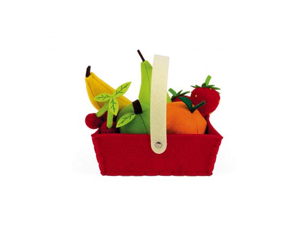 Набор фруктов Janod в корзинке: 8 предметов, фото , изображение 5