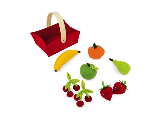 Набор фруктов Janod в корзинке: 8 предметов, фото , изображение 8