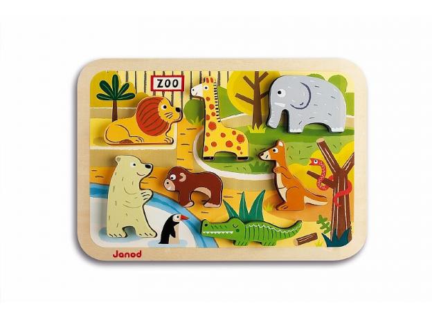 Объемный пазл Janod «Зоопарк», 7 элементов, фото , изображение 3