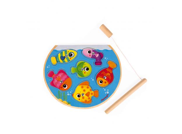 Пазл Janod «Рыбалка» магнитный: 6 рыбок, 1 удочка, фото