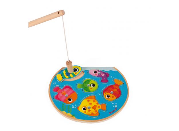 Пазл Janod «Рыбалка» магнитный: 6 рыбок, 1 удочка, фото , изображение 2