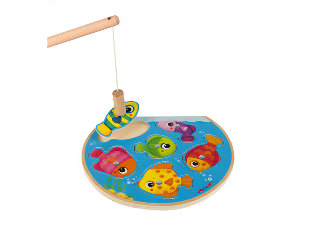 Пазл Janod «Рыбалка» магнитный: 6 рыбок, 1 удочка, фото , изображение 3