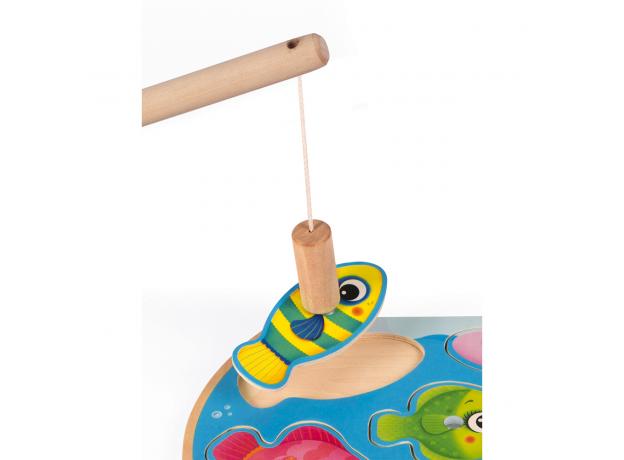 Пазл Janod «Рыбалка» магнитный: 6 рыбок, 1 удочка, фото , изображение 4