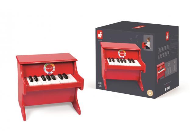 Детское пианино Janod, красное, фото , изображение 2