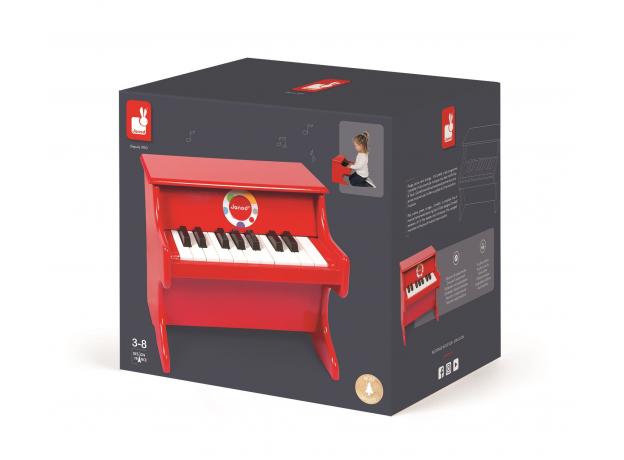 Детское пианино Janod, красное, фото , изображение 3