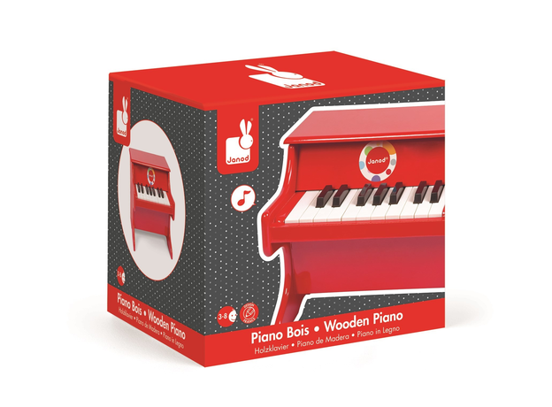 Детское пианино Janod, красное, фото , изображение 4