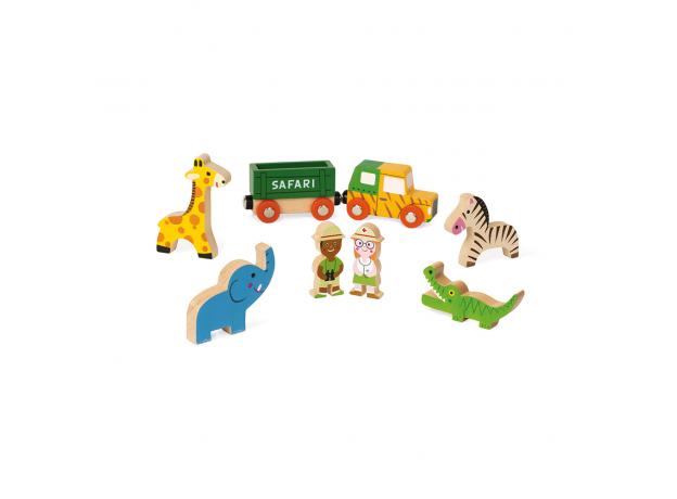 Набор деревянных фигурок Janod «Маленькие истории. Сафари», фото , изображение 2