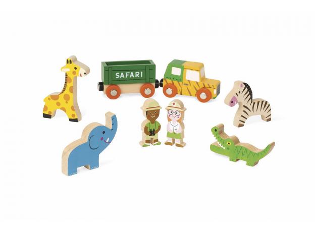 Набор деревянных фигурок Janod «Маленькие истории. Сафари», фото , изображение 3