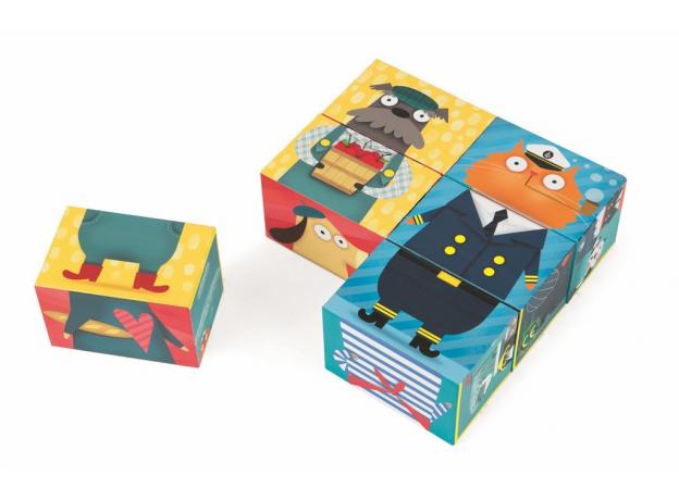 Кубики Janod «Кот и пес»; серия «Комбинируй и сопоставь», фото , изображение 4