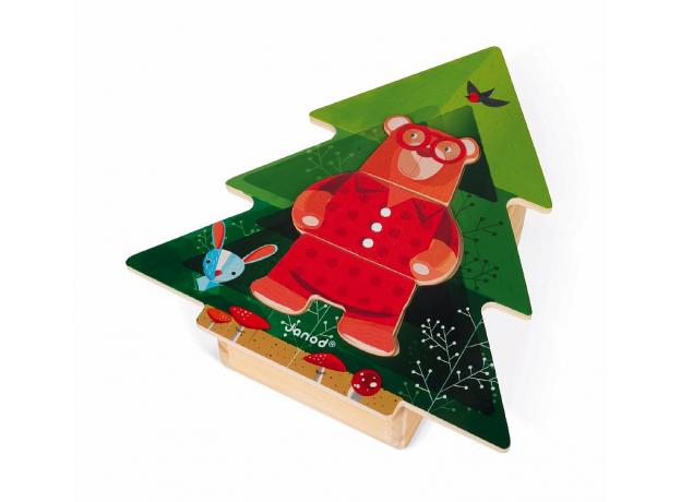 Пазл деревянный Janod «Медведь в пижамах», фото , изображение 4