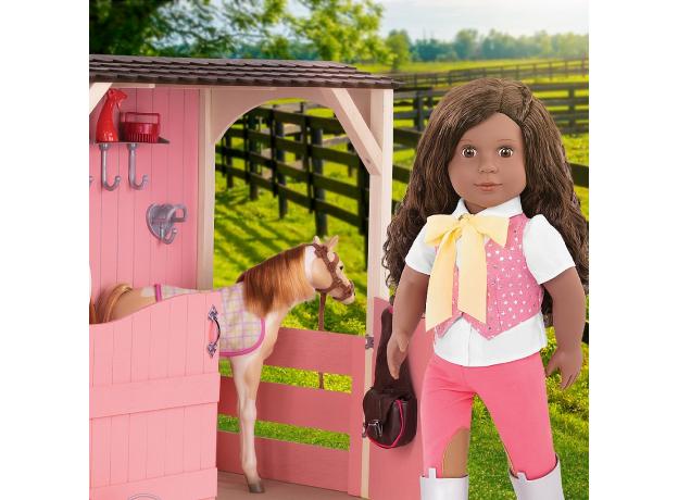 Кукла мулатка 46 см Our generation Мануэлла; наездница, фото , изображение 3